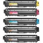 Pack de 5 toners compatibles TN241 / TN245
