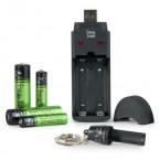 Chargeur de piles USB + 4 piles rechargeables